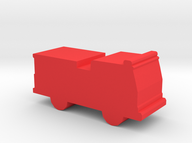 Game Piece, Fire Engine in Red Processed Versatile Plastic