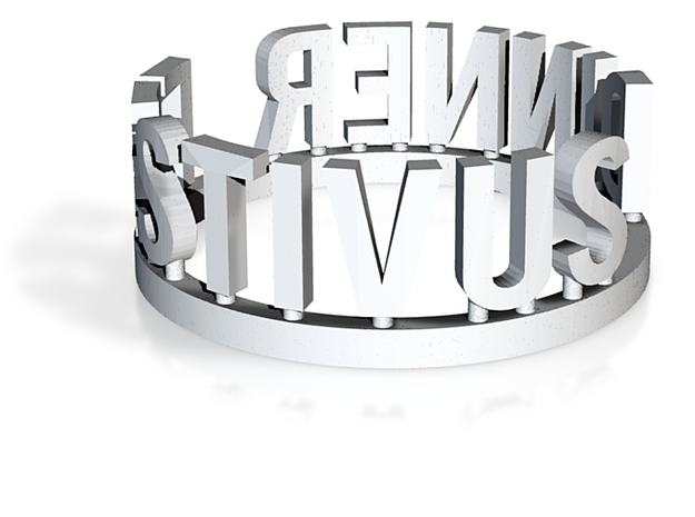 DRAW Festivus - Festivus Dinner ring in White Natural Versatile Plastic