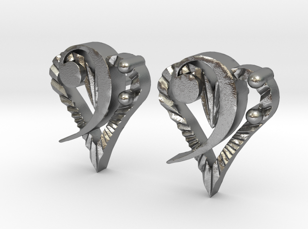 Music From The Heart Earrings in Natural Silver