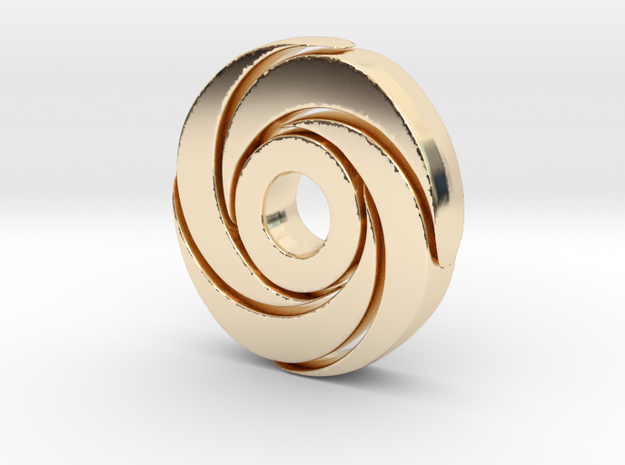 Strong Sprial in 14K Yellow Gold