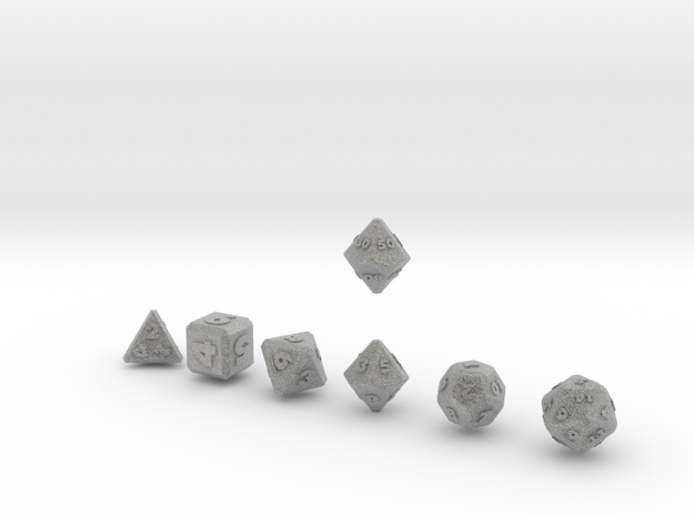 FUTURISTIC outie bevels dice 3d printed