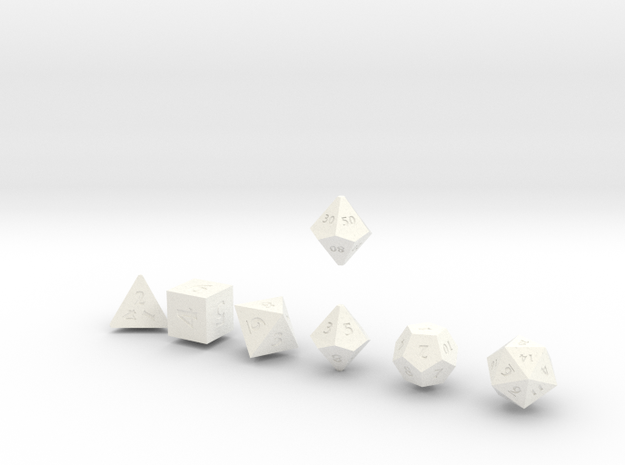 QUADRANT Sharp Innies dice 3d printed