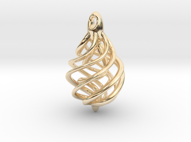 DNA Teardrop Pendant 3d printed