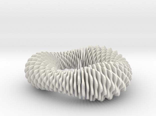 Fusilli 843 in White Natural Versatile Plastic