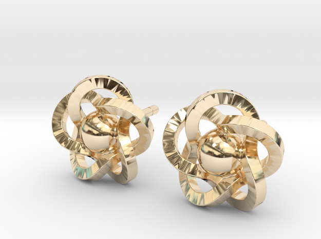 Flower Earrings in 14K Gold