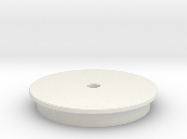 Maxi Carrier Turntable 1x in White Natural Versatile Plastic