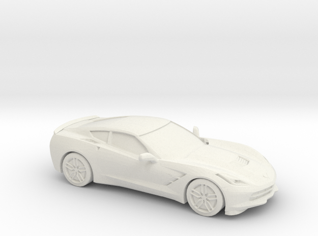 1/48 2014 Corvette Stingray C7 in White Natural Versatile Plastic