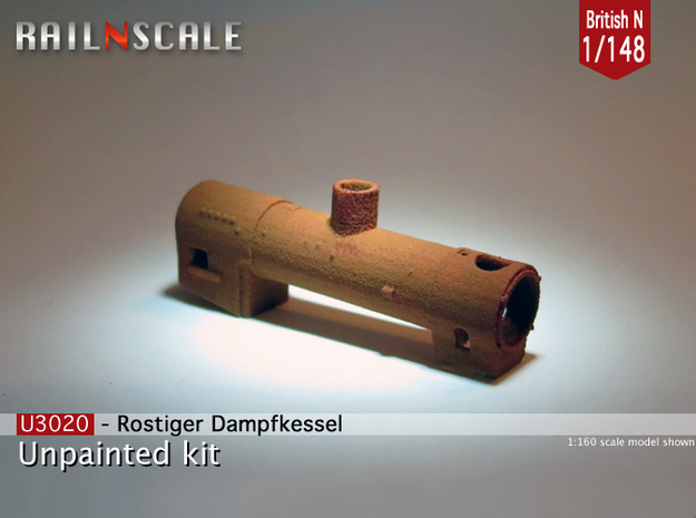 Rusty boiler (British N 1:148) in White Natural Versatile Plastic