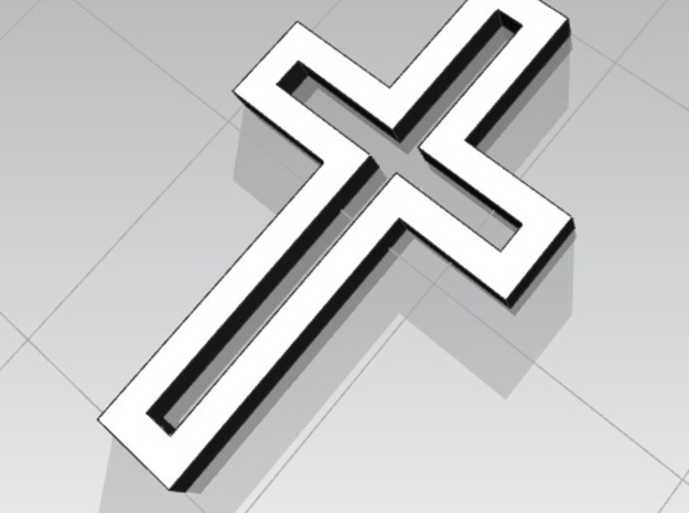 Stylish Affordable Cross Jewelry 3d printed 3D Rendering of the Cross