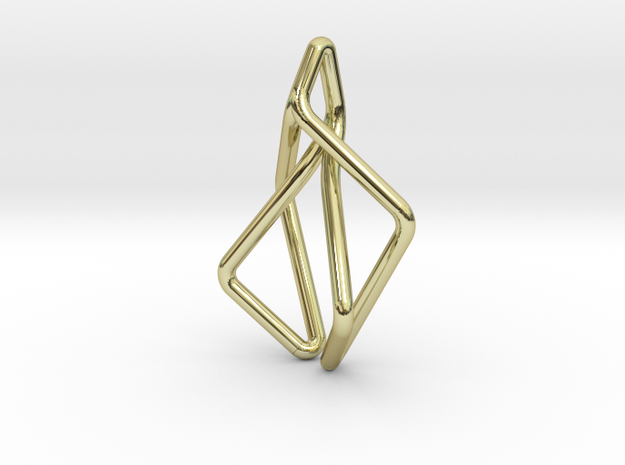 """""""N Line"""" No.2 Pendant in 18k Gold Plated"""