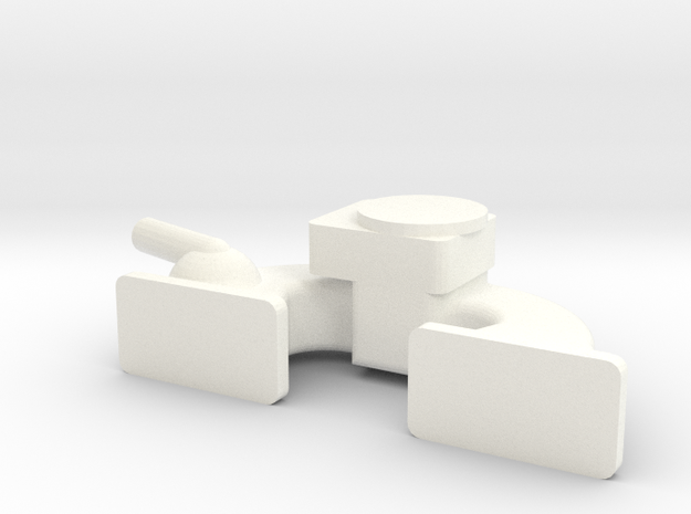 22R 1-10 motor Carb Intake in White Processed Versatile Plastic