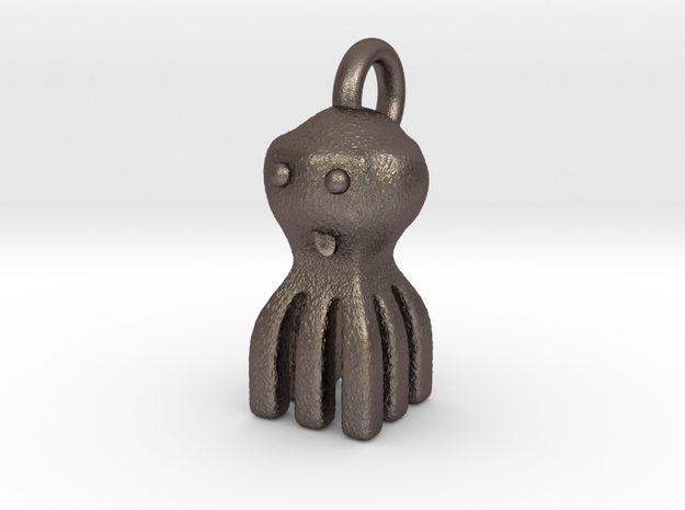 cheeky kraken classic keychain in Polished Bronzed Silver Steel