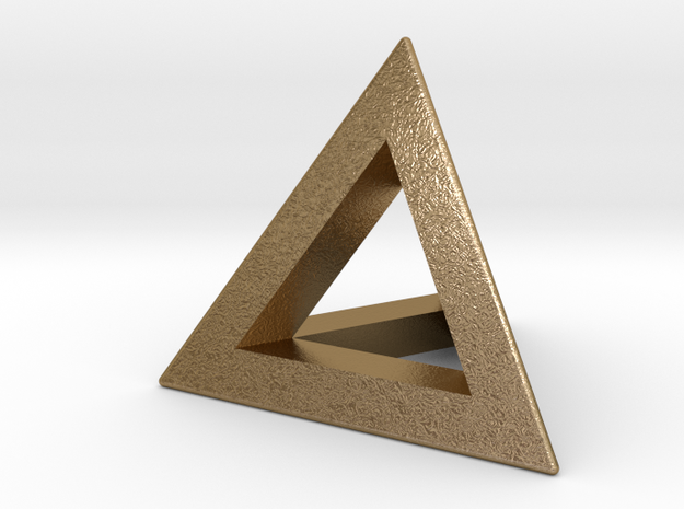 Tetrahedron 18mm in Polished Gold Steel