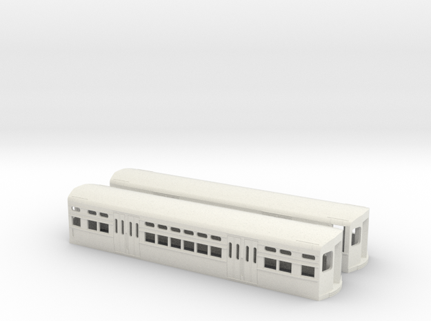 CTA 6000 Series, Late Curved Door Pair in White Natural Versatile Plastic