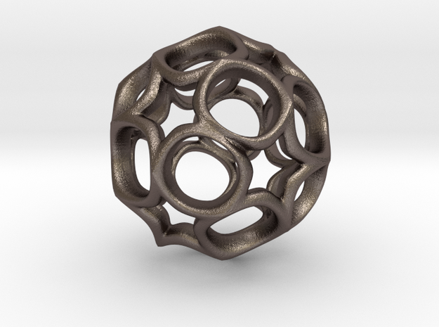 Truncated icosahedron 3CM in Stainless Steel