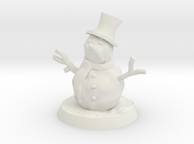 28mm/32mm Snowman in White Natural Versatile Plastic