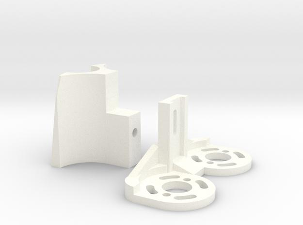 Fletcher Motor Mount (2 pieces) in White Processed Versatile Plastic