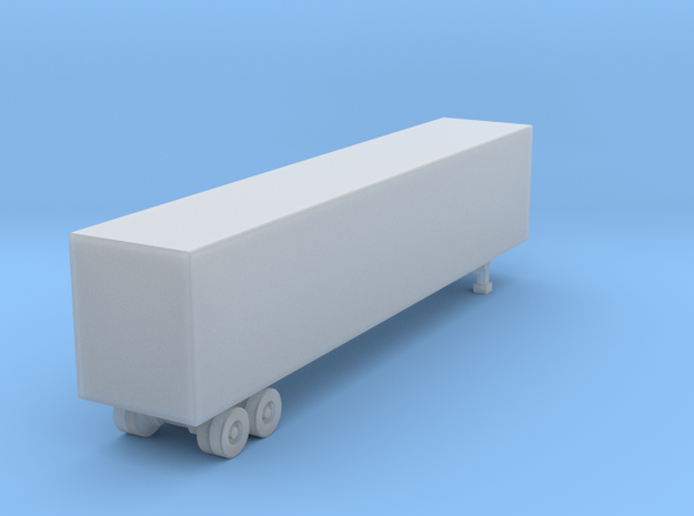 48 Foot Box Trailer - Z scale  in Smooth Fine Detail Plastic