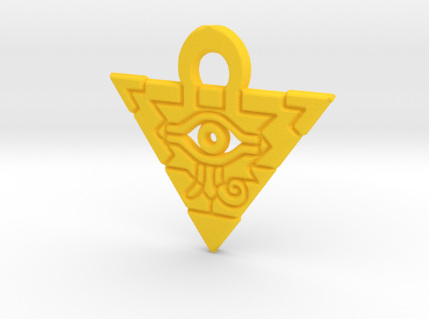 Flat Millennium Puzzle Charm in Yellow Processed Versatile Plastic