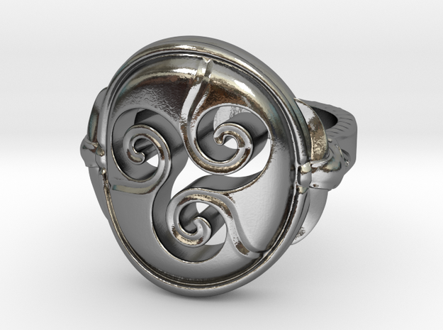 Ring Triskell size US 9 3/4 in Polished Silver