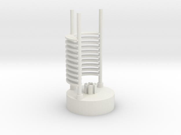 Saber Crystal Chamber lightsaber parts 2/2 in White Natural Versatile Plastic