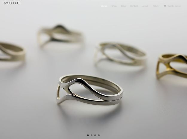 Oeno Ring in Fine Detail Polished Silver
