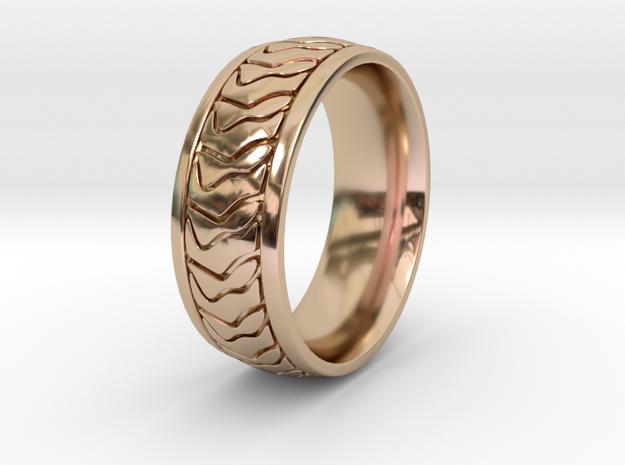 ZEBRA RING SIZE 10 in 14k Rose Gold Plated Brass