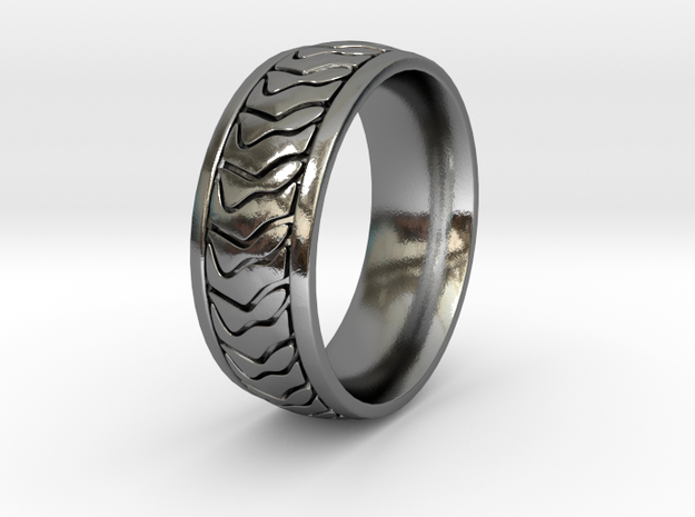 ZEBRA RING SIZE 10.5 3d printed polished silver with antique black