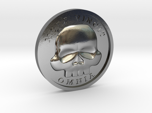 The Coin of Acheron in Polished Silver