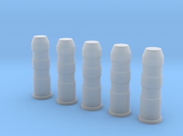 Plastic Road Bollards (5 pcs.) in 1:35 scale in Frosted Extreme Detail