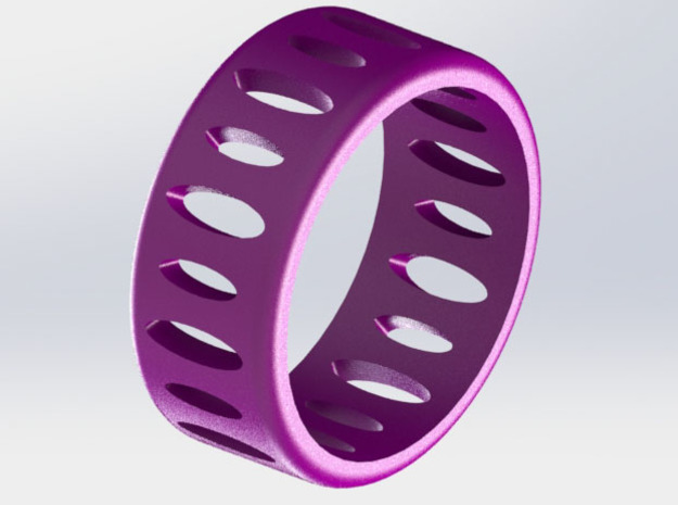 AB Ellipse Ring - Size 7 1/2 in Purple Strong & Flexible Polished