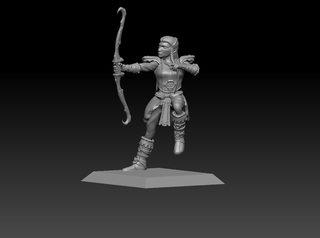 Elf Warrior 35mm Nº3 in Smooth Fine Detail Plastic