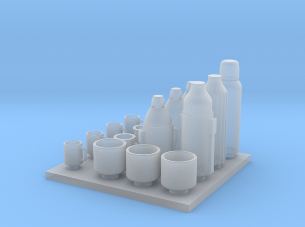 1: 32 scale WWI CUPS AND THERMOSES in Smoothest Fine Detail Plastic