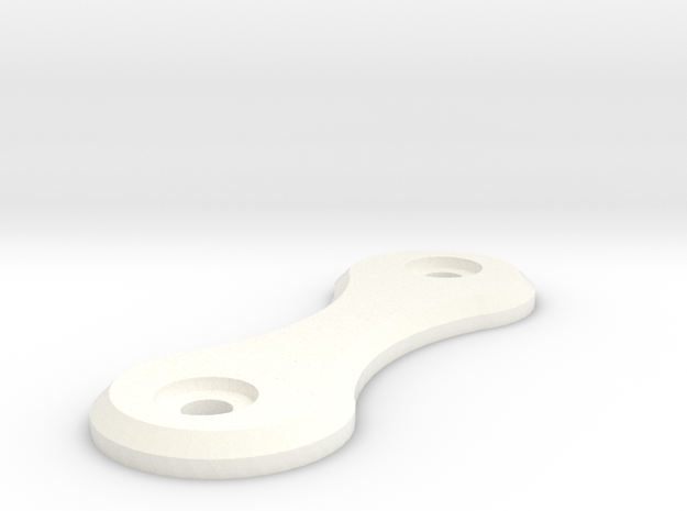 Key Holder Side in White Strong & Flexible Polished