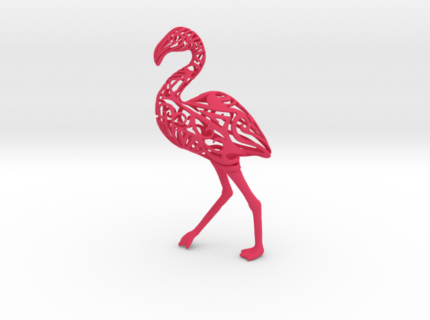 Tribal Flamingo in Pink Processed Versatile Plastic