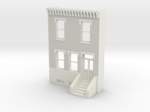 HO SCALE ROW HOUSE FRONT BRICK 2S