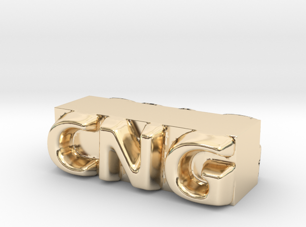 CNG Pendant in 14K Yellow Gold