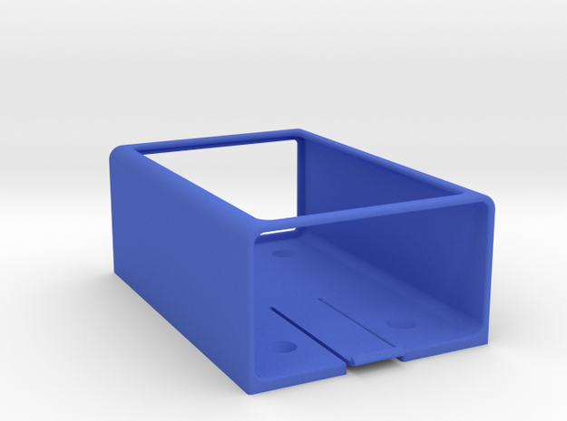 OMEX 600/200 ECU Holder - Slide Type in Blue Processed Versatile Plastic