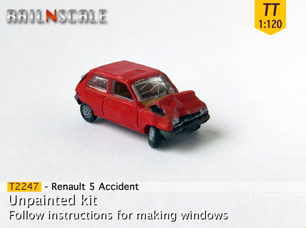 Renault 5 Accident (TT 1:120) in Frosted Ultra Detail