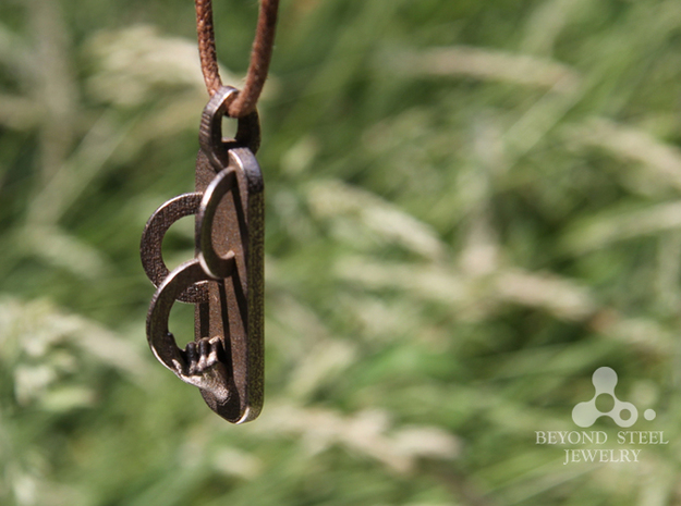 Rings Pendant 3d printed Stainless Steel Finish