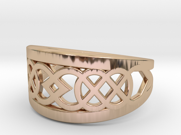Size 8 Knot C7 in 14k Rose Gold Plated Brass