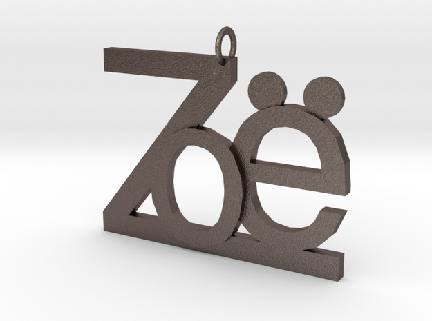 Zoe in Polished Bronzed Silver Steel