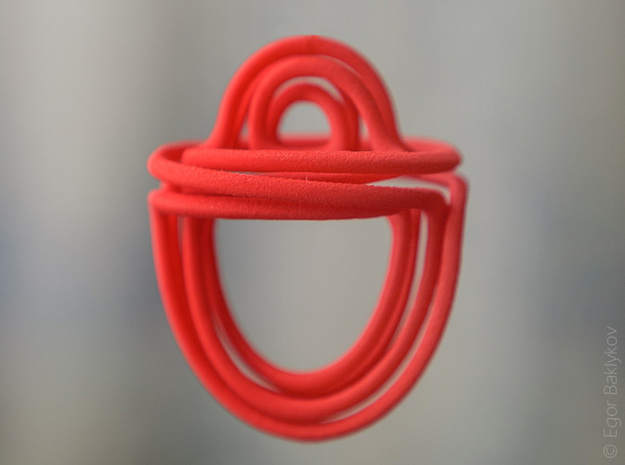 Vines pendant 3d printed Vines pendant in Coral Red Strong & Flexible