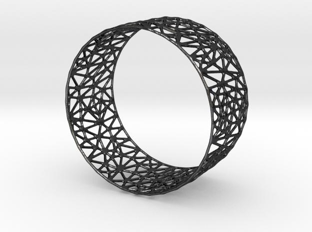 Frohr Design Easy Construction Bracelet  in Polished and Bronzed Black Steel