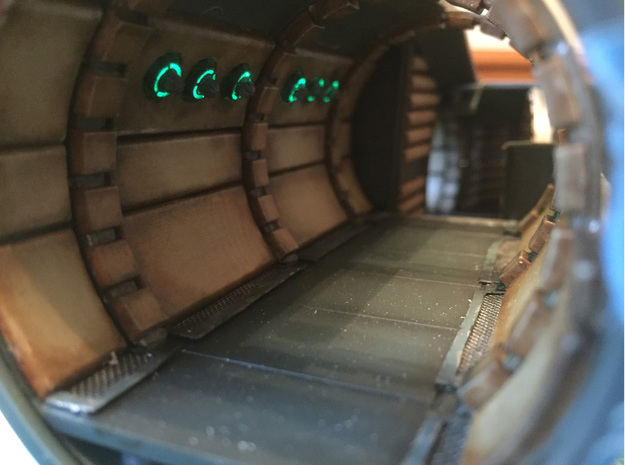 Star Wars Millennium Falcon  Corridor Lighting in Smooth Fine Detail Plastic