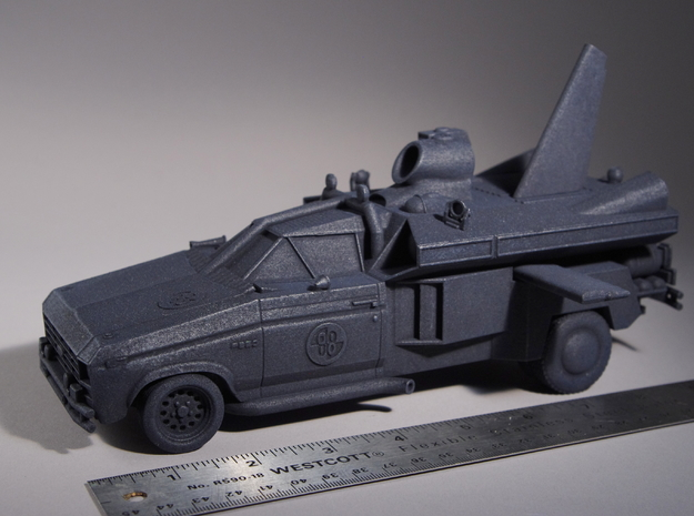 "Buckaroo Banzai Jet Car MK III - 1:25 Scale - 9.5"" in Black Natural Versatile Plastic"