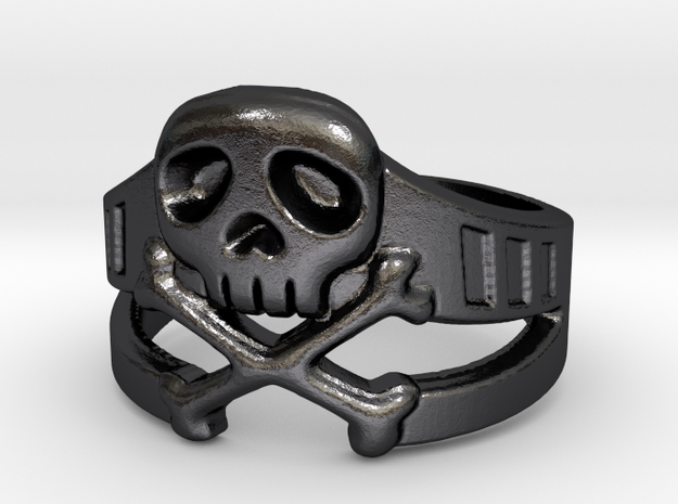 Space Captain Harlock | Ring Size 9 in Polished Grey Steel: 9 / 59