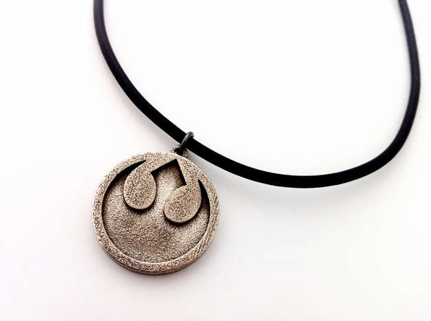 Rebel Alliance Pendant in Polished Bronzed Silver Steel