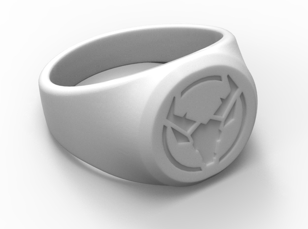 Signet Ring Deer Logo 19mm men in White Natural Versatile Plastic