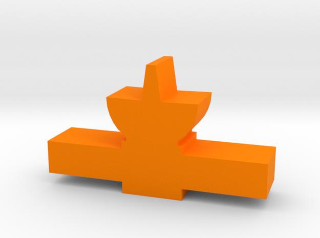 Game Piece, Satellite Probe in Orange Processed Versatile Plastic